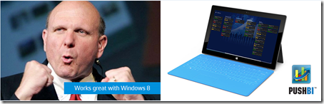 Windows 8, Microsoft, PushBI, MobileBI, Business Intelligence, Analytics