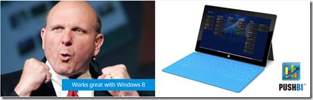 Windows 8, Microsoft, PushBI, MobileBI, Business Intelligence, Analytics